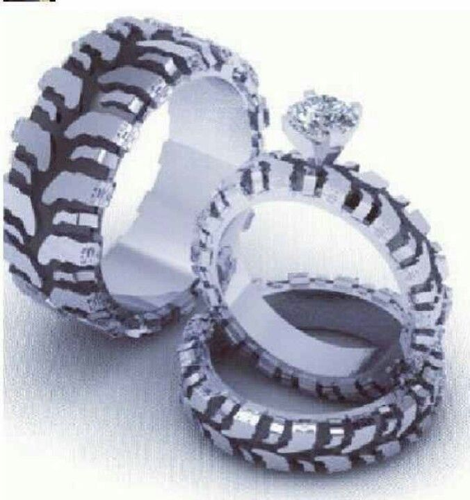 tire wedding ring redneck - Redneck Wedding Rings
