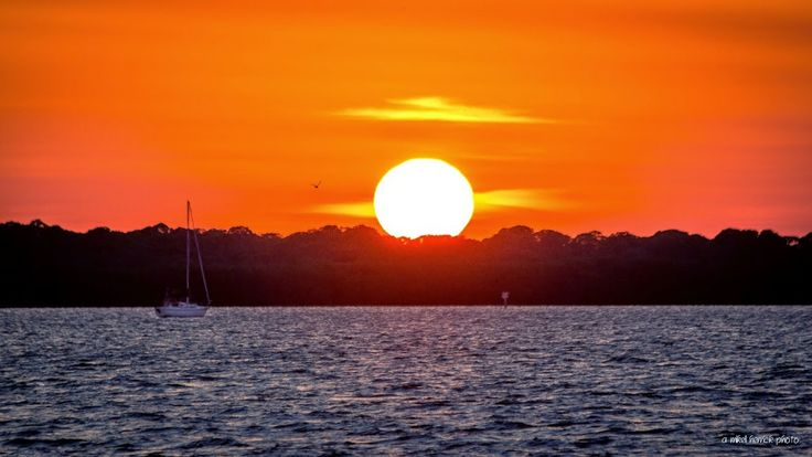 Sunset over St. Joesph Sound, Dunedin FL