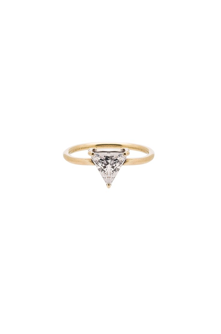 TORCHLIGHT Triangle Ring in Brass