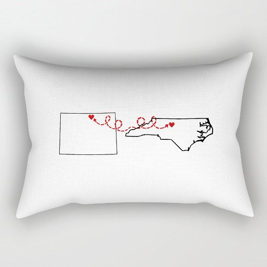 Two States Love Custom Pillow Case T-Shirt Pillow Case by hhprint