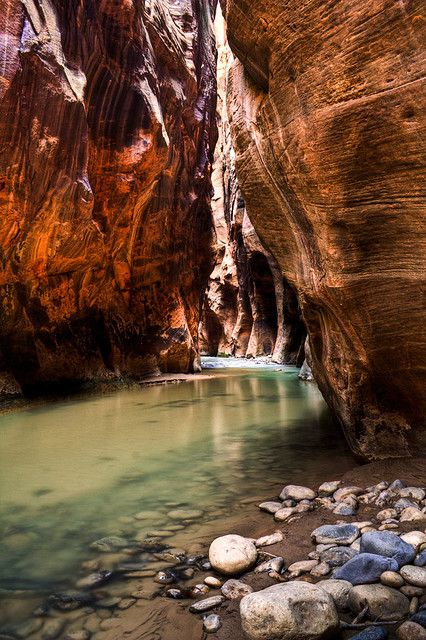 The Narrows in Zion National Park, Utah, USA.
