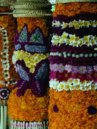 Intricate Flower Decorations, Opening of the Bali Arts Festival