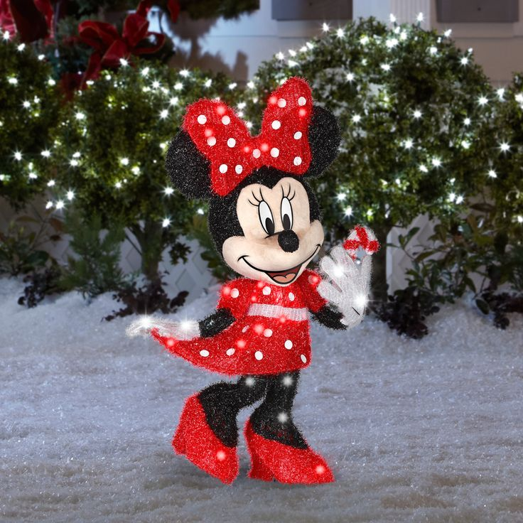 shop gemmy 1 piece 256 ft minnie mouse outdoor christmas decoration at lowes - Lowes Christmas Decorations