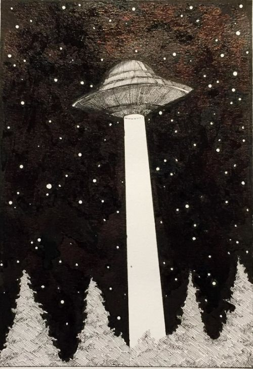 redlipstickresurrected:  Sophie Argetsinger (based Holyoke, MA, USA) - I Want To Believe  Drawings: Ink