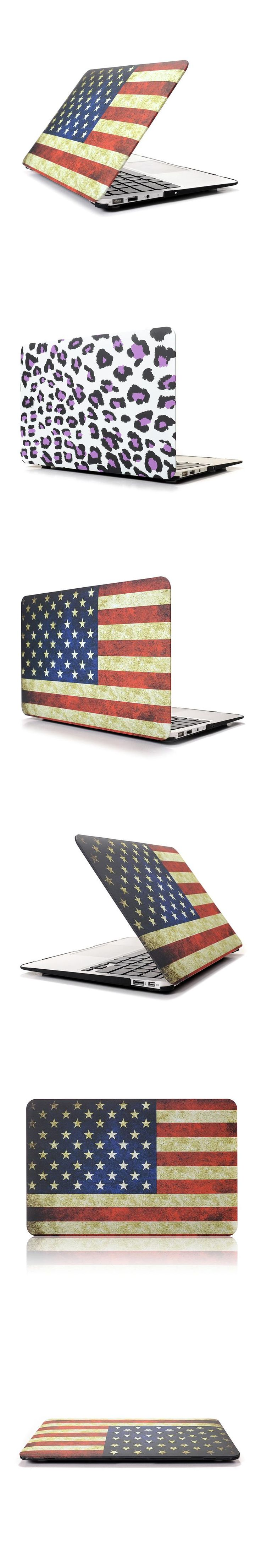 Classic matte print case for macbook air 11 US UK flag flower laptop cover for macbook 11.6 air mac book A1370 A1465 bag