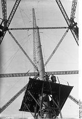 Sender Königs Wusterhausen-Bauarbeiten am Stahlfachwerkturm (1925)