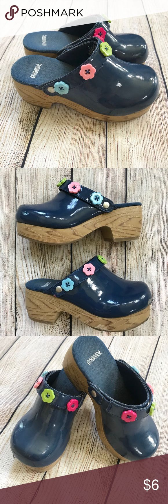 Gymboree Patent Navy Clogs Patent navy blue clogs with
