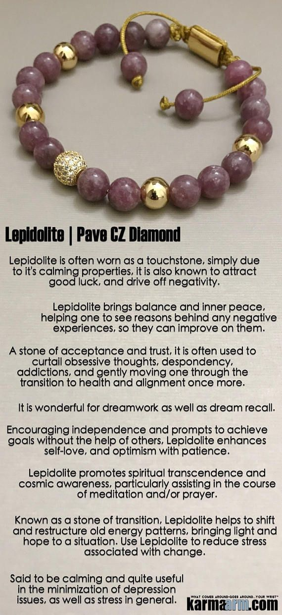 Lepidolite is often worn as a touchstone, simply due to it's calming properties, it is also known to attract good luck, and drive off negativity. ♛ #BEADED #Yoga #Charm #BRACELETS #Mens #Good #Luck #womens #Jewelry #Crystals #Energy #gifts #Chakra #Healing #Kundalini #Law #Attraction #LOA #Love #Mala #Meditation #prayer #Reiki #mindfulness #wisdom #CrystalEnergy #Spiritual #friendship #Tony #Robbins #Stacks #Lucky #Mantra #TimesUp #MeToo #MLK #Addiction #Sobriety