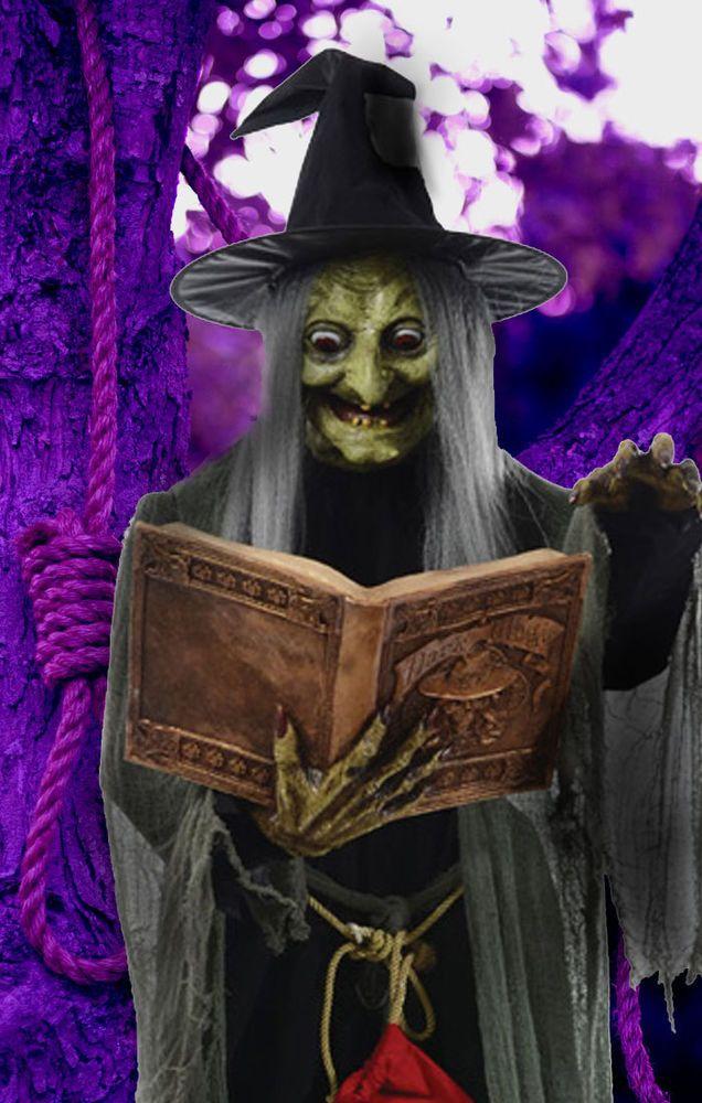 spell speaking witch animated halloween yard prop - Halloween Props 2016