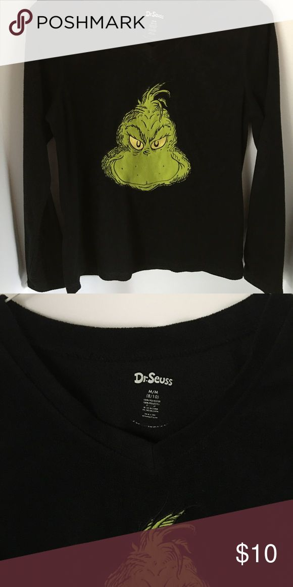 Dr Seuss Grinch Warm Tee Shirt Long sleeved warm top - stretchy and thicker than most tee shirts. Great condition!  M/M. Dr Seuss Tops Tees - Long Sleeve