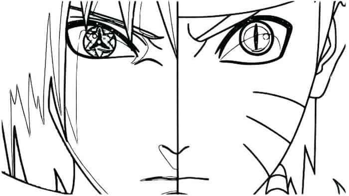 Coloring Pages Naruto Vs Sasuke In 2020 Chibi Coloring Pages Cartoon Coloring Pages Naruto