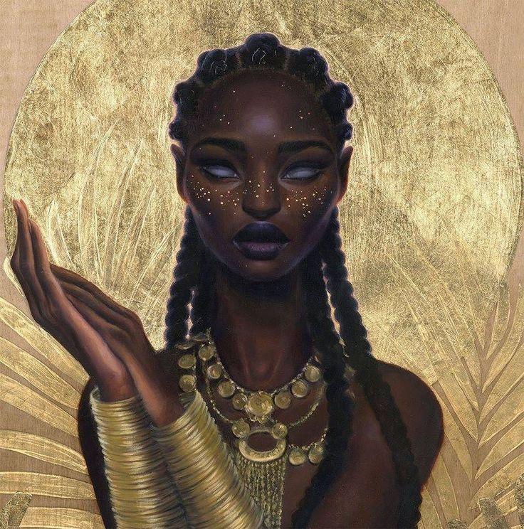 African teen art