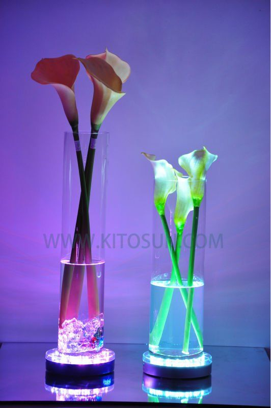 centerpieces with led lights in vases. Find this Pin and more on fish bowl decorating ... & 19 best fish bowl decorating ideas images on Pinterest | Table ...