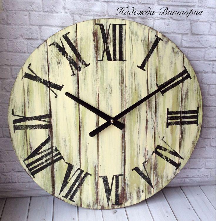 """Купить Большие настенные часы """"Французский винтаж"""" - часы, часы настенные, часы интерьерные"""