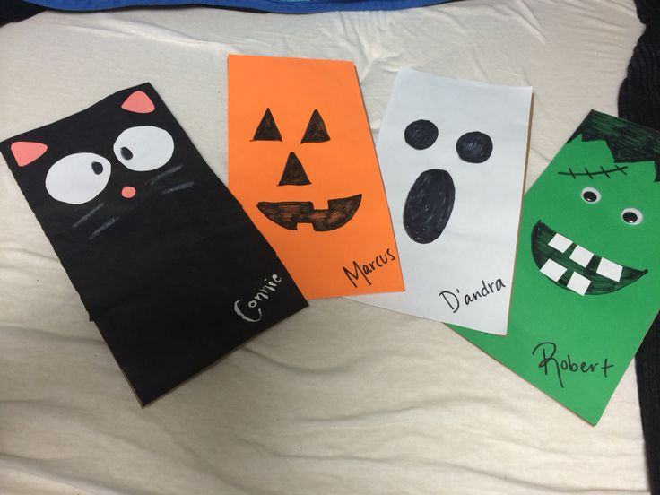 October RA door decs. Theyu0027re paper bags and I put candy in them & 109 best Res Life images on Pinterest | Murals School and Slab doors