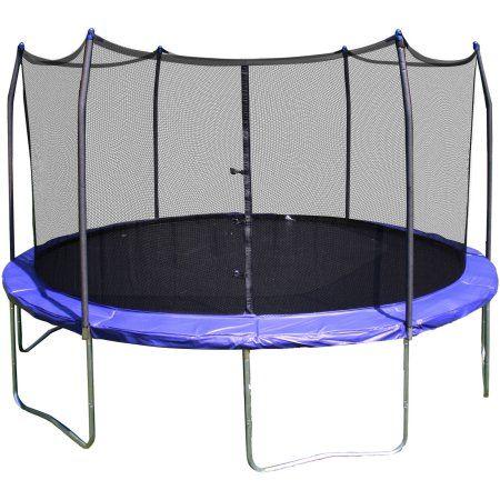 Skywalker Trampolines 12' Round Trampoline and Safety Enclosure - Blue