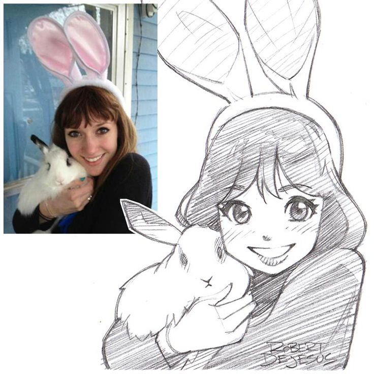 L'illustrateur américainRobert DeJesus, akaBanzchan,s'amuse à dessiner le portrait des gens version manga ! Il réalise des illustrations vraiment migno