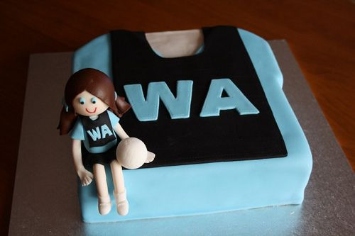 Netball cake by kerstee, via Flickr