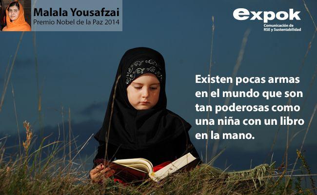 15 frases de Malala Yousafzai. Conócelas todas en http://www.expoknews.com/15-inspiradoras-frases-de-malala-yousafzai-a-favor-de-la-educacion-y-la-igualdad/