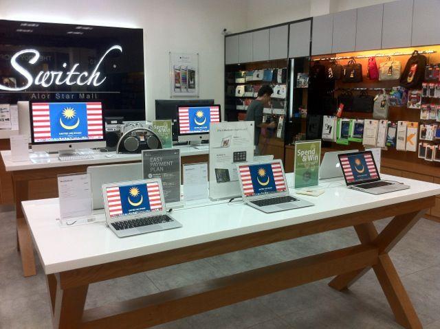 Merdeka spirit at Switch retail outlets
