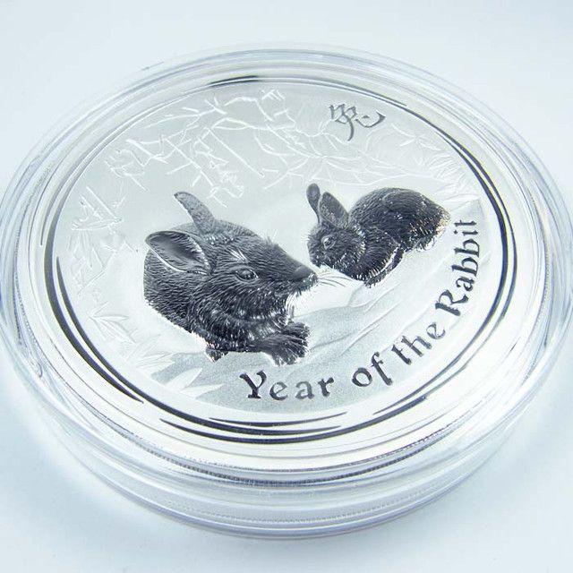 2011 MASSIVE ONE KILO BU LUNAR RABBIT SILVER  COIN rabbit silver bullion coin, lunar rabbit