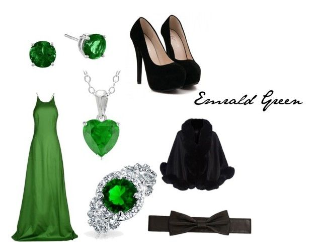 """emrald green"" by mary-minge on Polyvore featuring Michael Kors, Bling Jewelry, Lowie and Harrods"