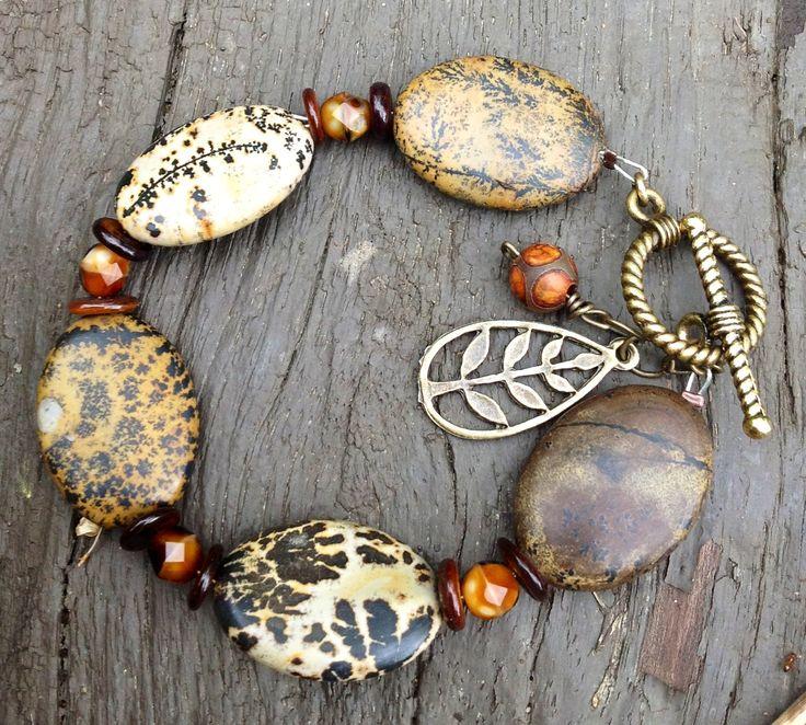 Jasper bracelet-Love the difference in the jasper beads.