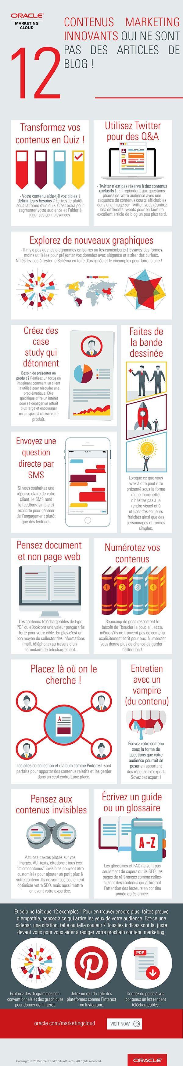 Infographie : 12 contenus marketing innovants qui ne sont pas des articles de blog !