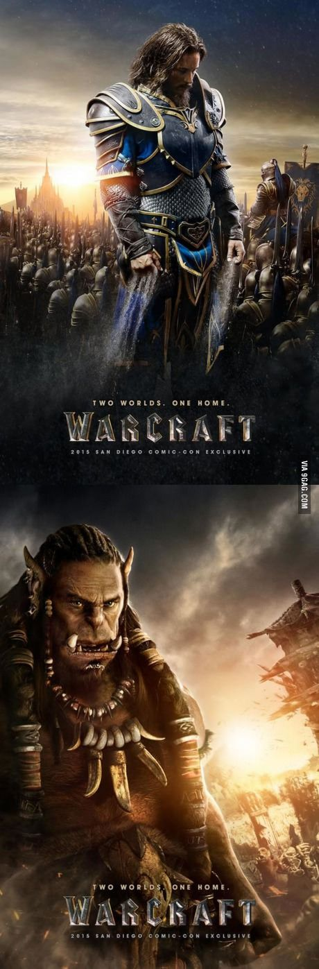 Two Official 'Warcraft' Movie Posters...holyyyy shit!