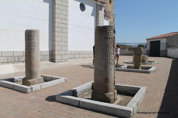 Ruinas romanas por toda Extremadura. Milarios de Carcaboso,