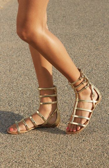Don't be afraid to match your shoes with your cuffs.  Like mixing gladiator sandals with gladiator cuffs.  Sandals:Tildon Sarasota Sandal | Nordstrom