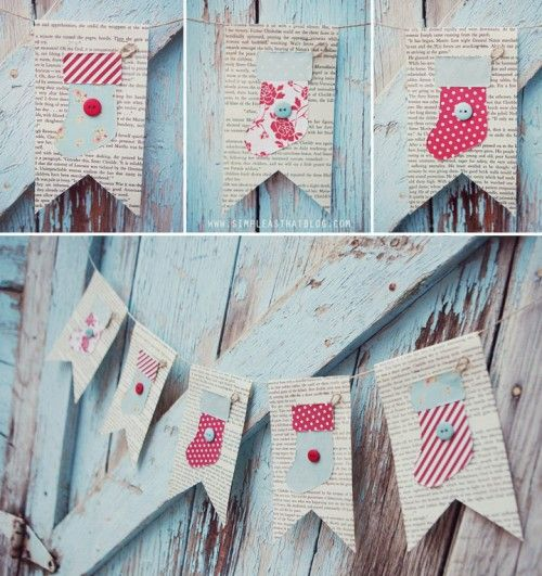 DIY Vintage Stockings Garland | Shelterness