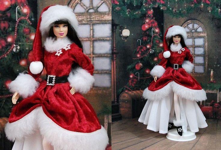 robe m re noel n 4 tenue pour barbie silkstone fashion. Black Bedroom Furniture Sets. Home Design Ideas