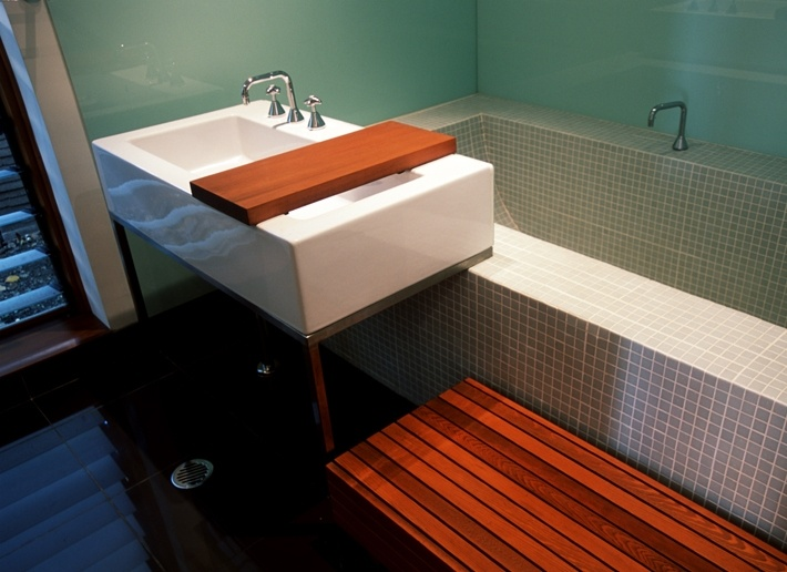CplusC - Sydney Architects and Builders. Bexley Residence. Custom Bath and furniture. #bathroom #sydney #architects