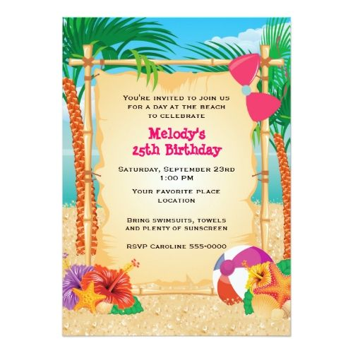 64 best Invites \ Blanks images on Pinterest Invites, Announcement - best of invitation templates for beach party