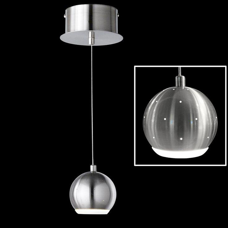 Kugelförmige Pendelleuchte mit LED-Technik