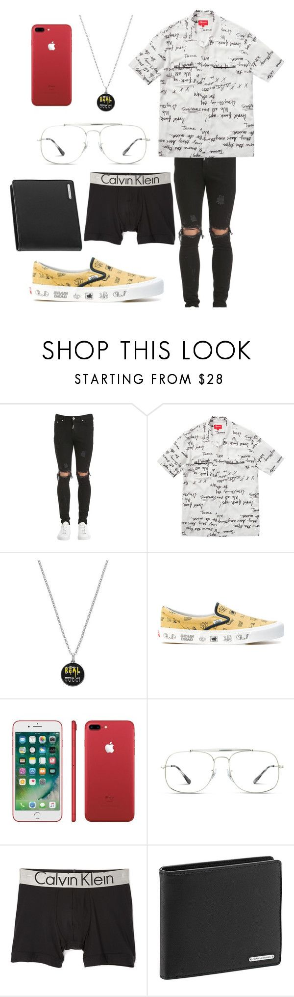 """Kylie"" by vejacomotenpovoa ❤ liked on Polyvore featuring Gucci, Vans, Ray-Ban, Calvin Klein Underwear, Porsche Design, men's fashion and menswear"