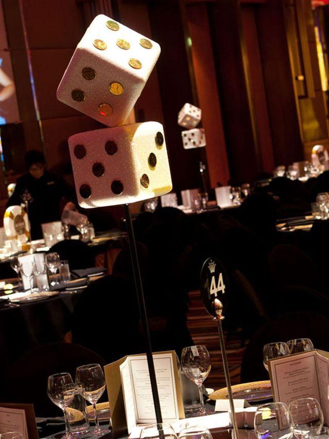 Casino dice decorations