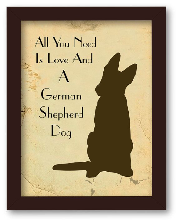 All You Need is Love and  German Shepherd Dog by DIGIArtPrints, $10.00