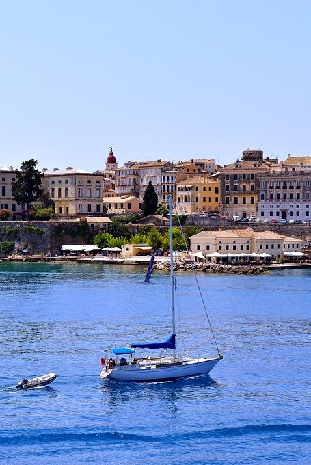 The town of Kerkyra - Corfu Island, Greece   Flickr - Photo by Vasilis.