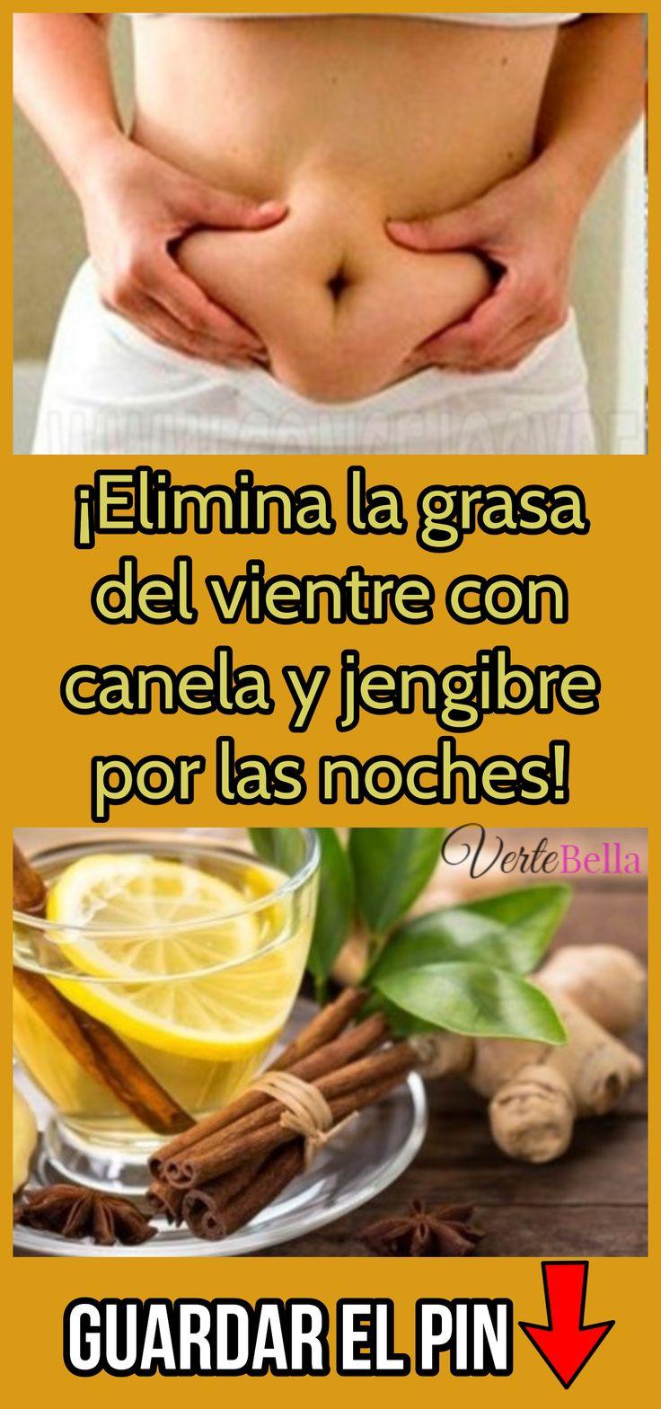 ¡Elimina la grasa del vientre con canela y jengibre por las noches!
