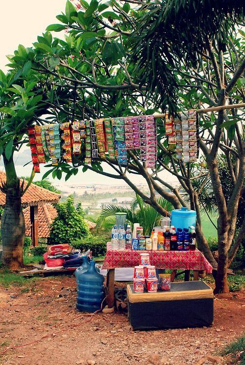 Rest stop.  Lampung, Sumatra.