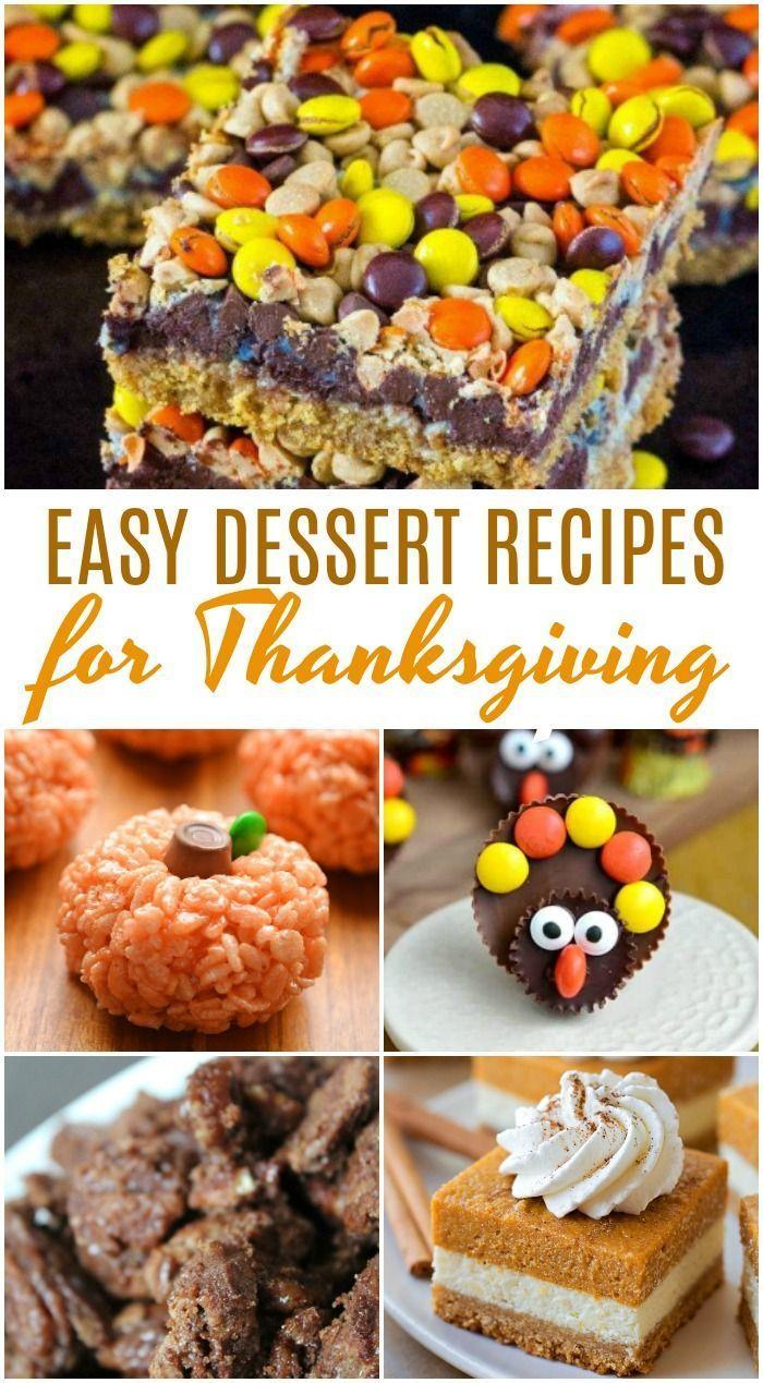 Amazing Thanksgiving Dessert Recipes