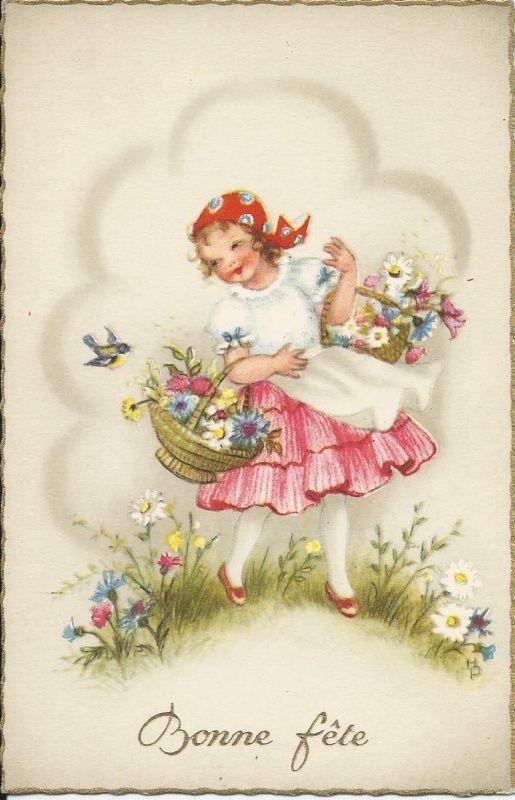 Bloemenfeest | Vintage ansichtkaarten | ZomaarVintage