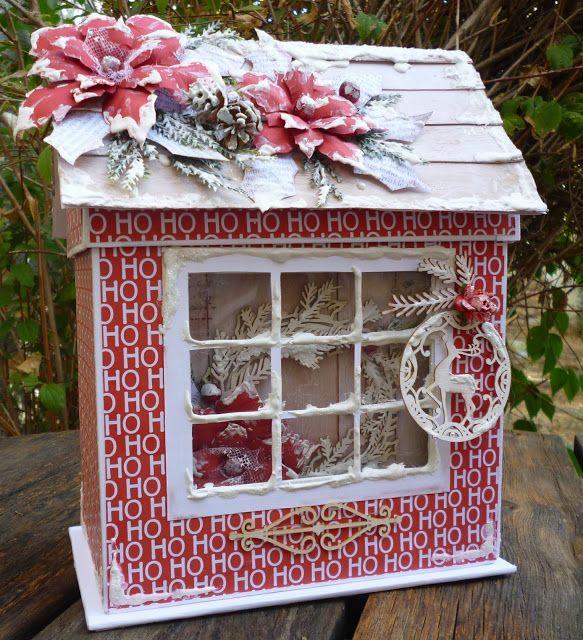 .: Christmas House Box and Handmade Mini Album Hi e...