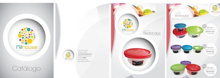 Diseño de Catálogo de productos herméticos - desarrollado para Milhouse Company