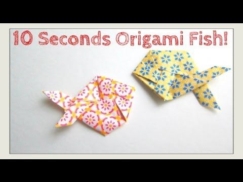 SLOWER TUTORIAL VERSION - Fold Origami Fish in Under 10 Seconds - Jeremy Shafer - Easy - YouTube
