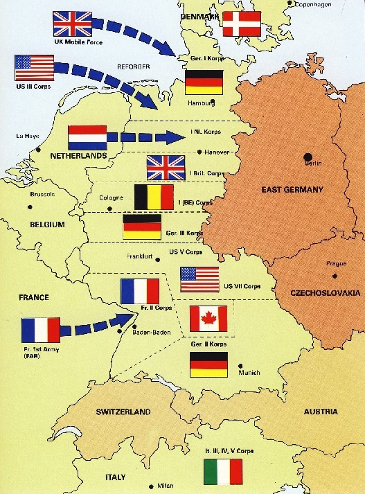 Best Fulda Gap Images On Pinterest Gap Military History And - Germany map 1980