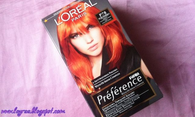 Leyraa Blog: L'oreal Feria Preference P78 Pure Paprika Bardzo I...