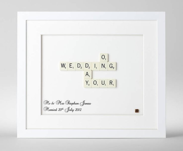 Personalised Wedding Day Scrabble Art for bex and morne ..but hand made ovb!